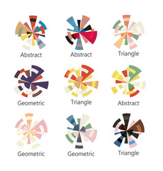 Isolated abstract colorful round shape logo vector