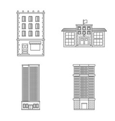 isolated object of architecture and exterior icon vector image