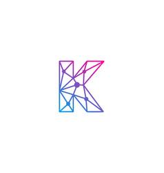 K letter network logo icon design vector