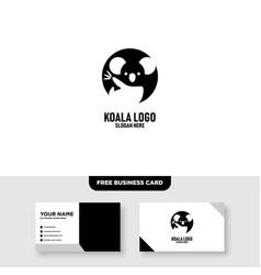 koala logo template free business card vector image