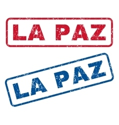 La Paz Rubber Stamps vector