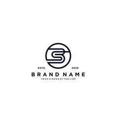 Letter bs logo design vector