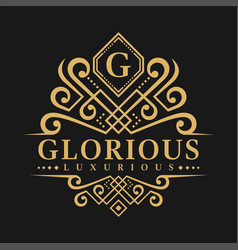 Letter g logo - classic luxurious style logo vector