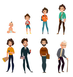 life cycle of men vector image