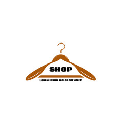 Logo clothing racks for small businesses vector