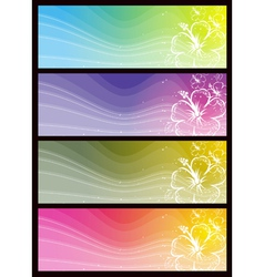 modern banners with floral ornament vector image
