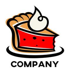 modern cake logo vector image