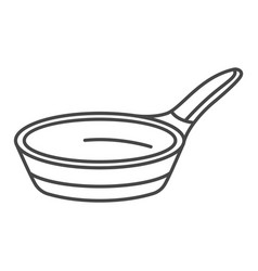Modern griddle icon outline style vector