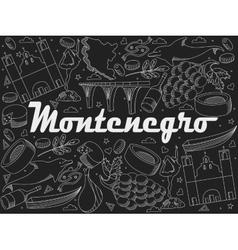 Montenegro chalk vector