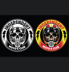 Motorcycle club badge vector