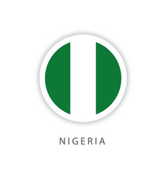 Nigeria circle flag template design vector