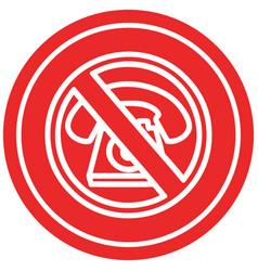 No cold calling circular icon vector