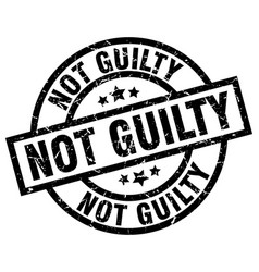 Not guilty round grunge black stamp vector