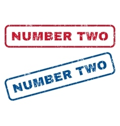 Number Two Rubber Stamps vector