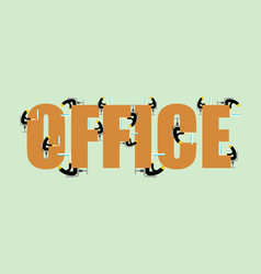 office lettering manager at computer vector image