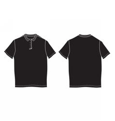 Polo shirt template Front and back views vector