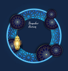 Ramadan kareem with islamic ornament background vector