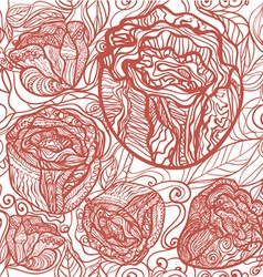 redflowerpattern vector image