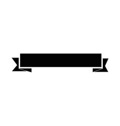 Ribbon banner empty vector