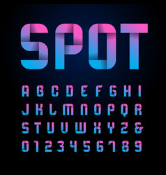 Ribbon font alphabet with latin letters vector