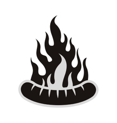 sausage bbq icon vector image