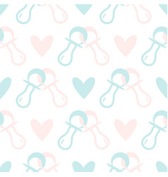 seamless pattern for baby shower vector image