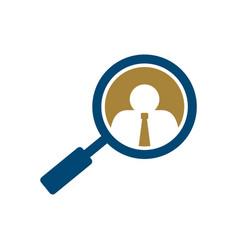 Search job logo template design eps 10 vector