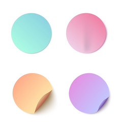 set colorful round blank vector image