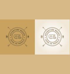 set of camper car logo design template home on vector image