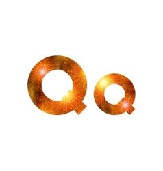Set of letters firework Q vector image