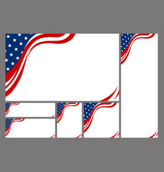 set of usa abstract background design vector image