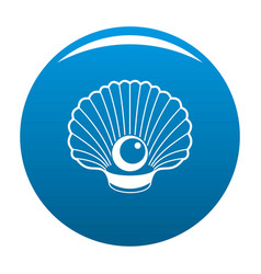 Shell with pearl icon blue vector