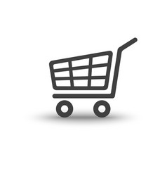 shopping cart trolley with soft shadow icon vector image