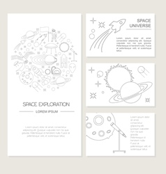 Space universe graphic design Banners layot flyer vector