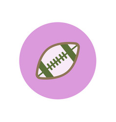 Stylish icon in color circle rugby ball vector