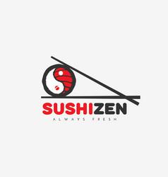 Sushi zen logo vector