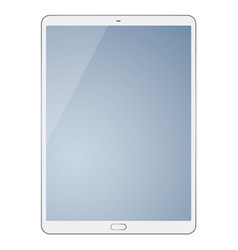 tablet computer isolated on white background vector image