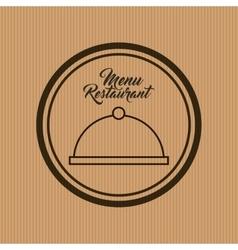 tray restaurant icon menu vector image