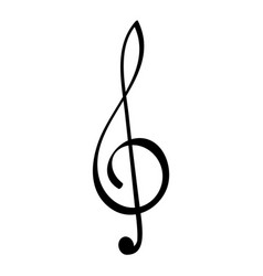 Treble clef or g clef vector