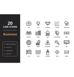 ultra high quality thin line icons vector image