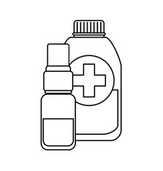 vaccination medical outline vector image