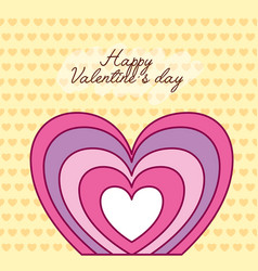 Valentines day celebration with heart vector