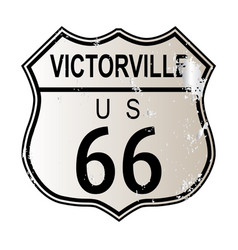 Victorville route 66 vector