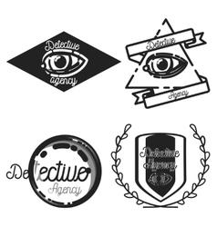 Vintage detective agency emblems vector