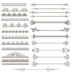 vintage ornaments and page decoration set vector image