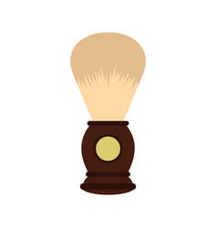 Wooden shaving brush icon flat style vector
