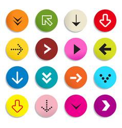 Arrows Colorful Arrow in Circle Set of Symbols vector image