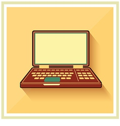 Laptop notebook personal computer flat icon vector image vector image