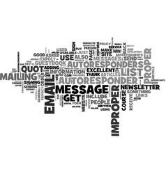 autoresponder tips text word cloud concept vector image