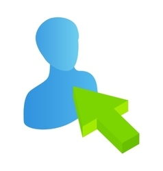 Click avatar isometric 3d icon vector image vector image
